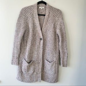 Madewell Speckled Chunky Wool Knit Cardigan